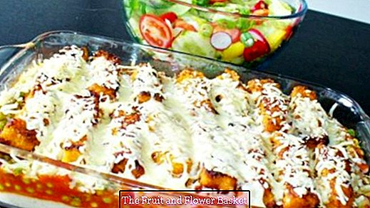 Fish stick casserole - quick and inexpensive