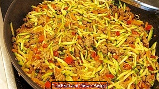 Zucchini-vegetable-pan with minced meat