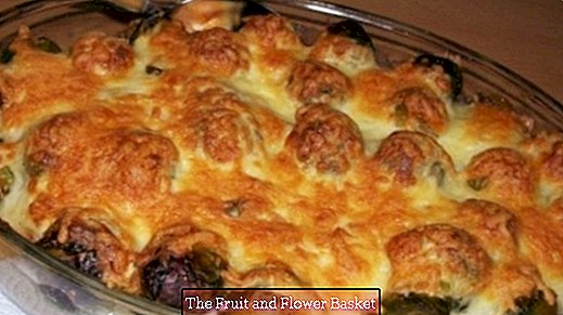 Brussels sprout casserole with meatballs