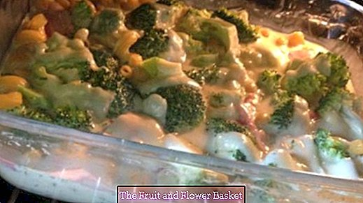 Broccoli casserole with hollandaise