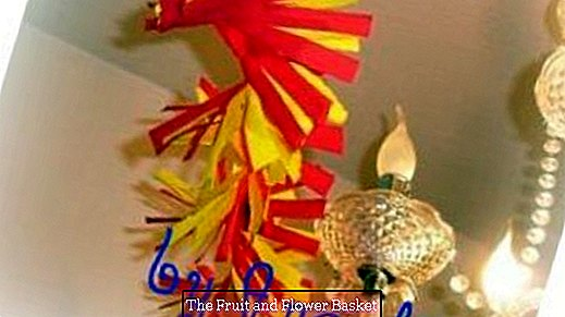Make great garland from crepe paper