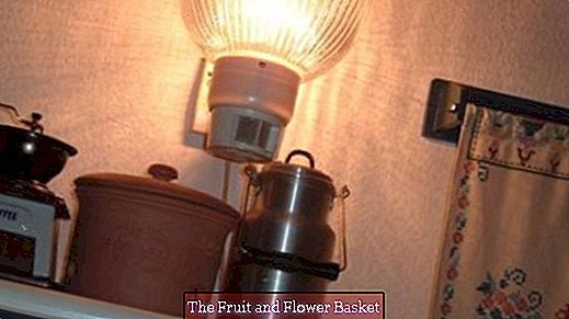 Motion detector as a lamp in the kitchen