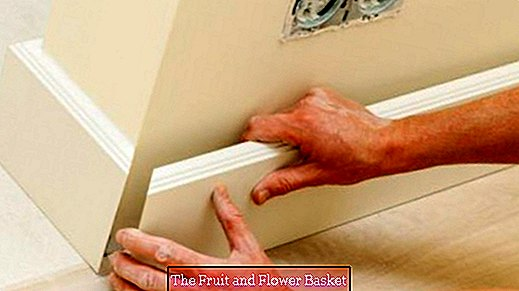 Apply skirting boards with hot glue