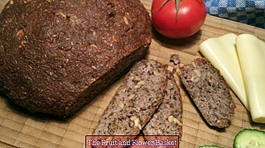 Fast magic bread without grain - vegan preparation possible