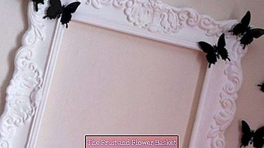 Decorative picture frames made of styrofoam trim