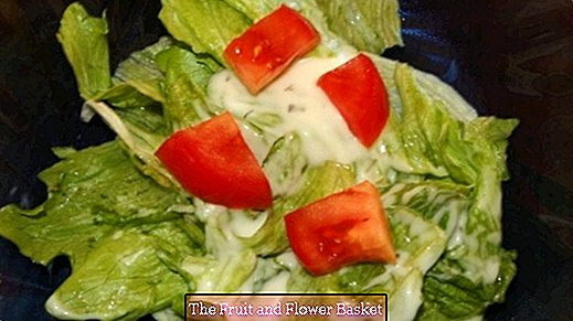 Light French salad dressing without mayonnaise or cream