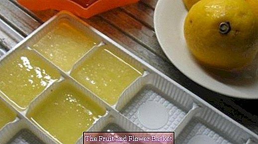 Congelar jugo de limón