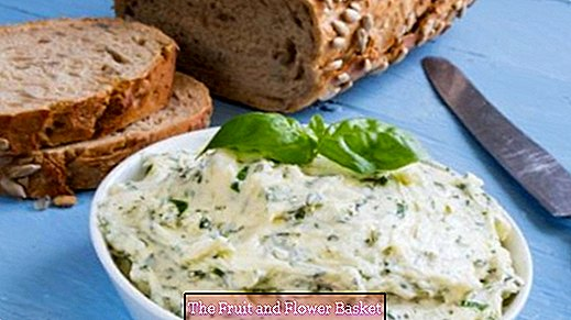 Make herb butter in stock and freeze