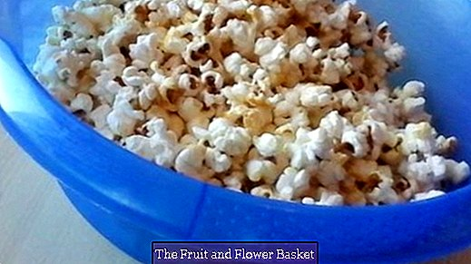 Sweet popcorn with coconut oil