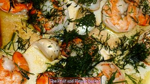 Prepare and fry frozen prawns for frying