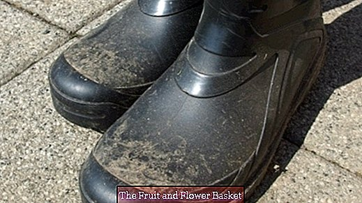 Rubber boots clean with ako pads