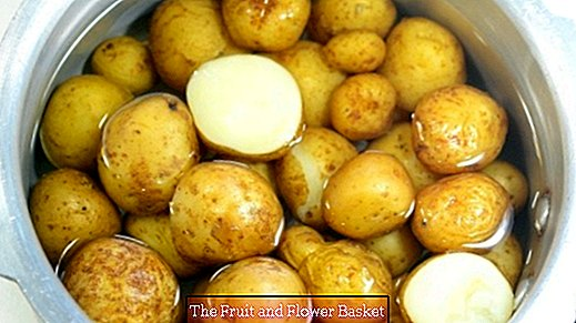 Cooking potatoes in a pressure cooker