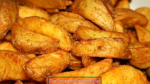 Potato wedges from the pan