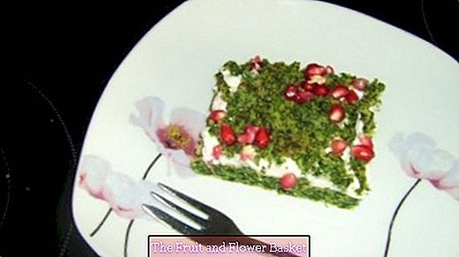 Moss cake - cake with spinach leaves