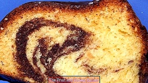 Marble cake without baking powder