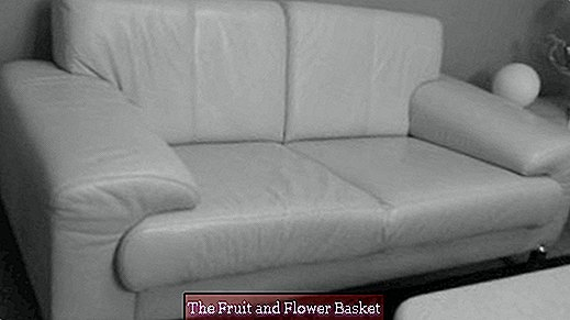 Clean and maintain white smooth leather sofa