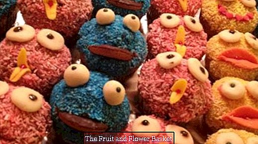 Blue Monster Muffins - Cookie Monster