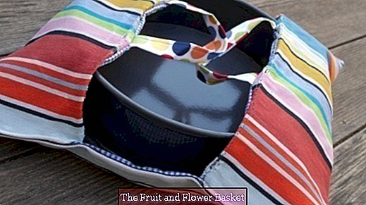 Sew a cake bag from dishcloths yourself