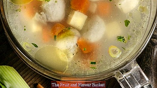 Process vegetable shells into a broth