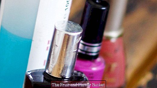 Open the glued nail polish bottle