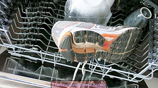 Washing sneakers in the dishwasher