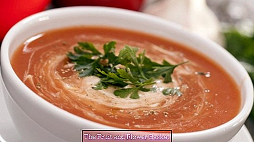 Provence tomato soup with cream cheese - creamy and aromatic