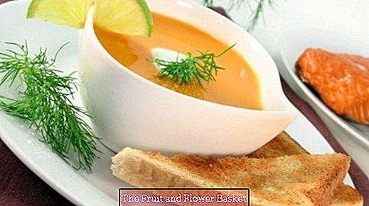 Salmon cream soup, delicious and very easy