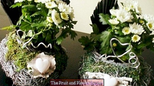 Create individual grave arrangements yourself with little resources