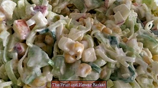 Apple-leek salad