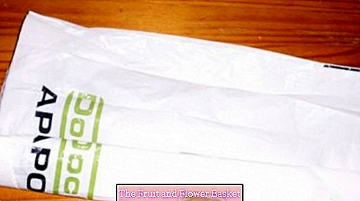 Fold small plastic bags and store them easily