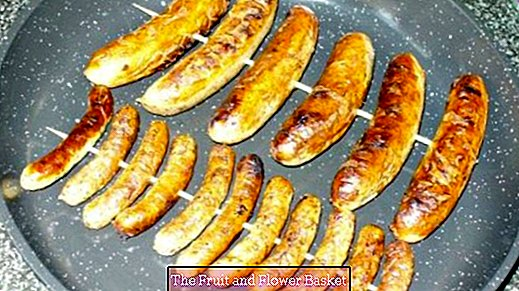 Nuremberg sausages are easier to grill